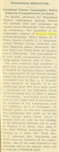 March 28, 1902 Dedication